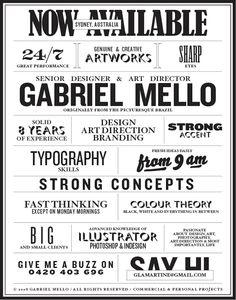 Gabriel Mello's Resume. 20 Innovative Resume Examples. #resume #design #inspiration