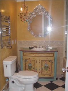 Transitional (Eclectic) Bathroom by Kimberly McClain