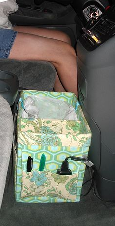 Pattern for a car organizer--Clever! I really need to make one of these.