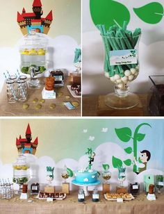 Jack in the Beanstalk Party with Lots of CUTE Ideas via Kara's Party Ideas Kara'sPartyIdeas.com #JackInTheBeanstalk #PartyIdeas #MagicBeans ...