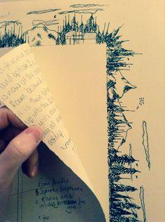 art journal, forrest illustr, forest sketch, forest illustration, sketchbook doodles, draw forrest, forest drawing, sketchbook ideas, journal ideas art