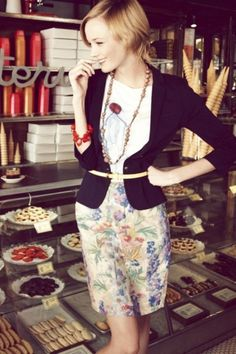 coffee break, style, blazers, pencil skirts, work outfits