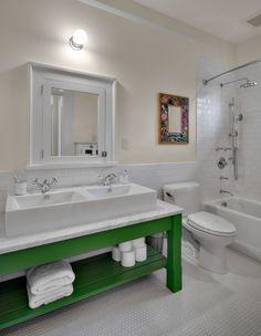 green vanity