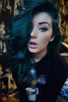 Dark blue hair