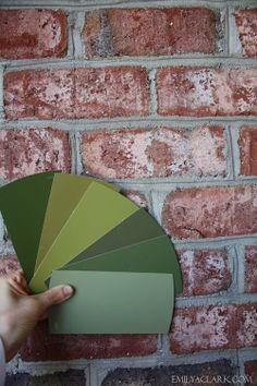 emili clark, paint colors, emily clark, front door colors, color decis