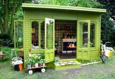 Orla Kiely's Chelsea flower show vintage shed