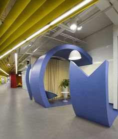 Yandex Office Design #office #design #color #sandiegoofficedesign #curtains