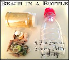 Beach in a Bottle - A Summer Sensory Bottle Wonderful craft to accompany the book Who Made You. #Children's crafts #home schooling #sea crafts