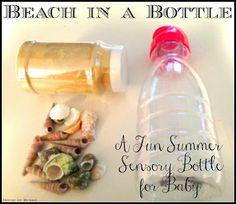 books, beaches, summerbeach theme, summer sensori, sensory bottles, child crafts, hous, sea crafts, sensori bottl