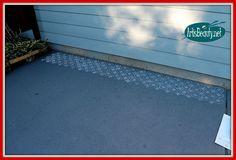 Hometalk :: Painted Patio Floor Makeover