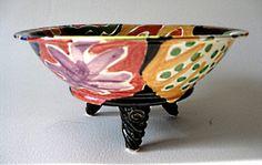 Handpainted Stoneware Serving Bowl Homage Matisse by JoyceSloanim, $50.00