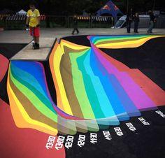 zuk club paints lugano skatepark as a working sundial