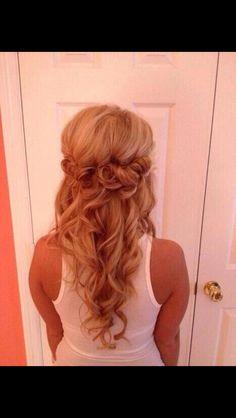 bridesmaid hair, makeup, curl, prom hair, wedding hairs, beauti, hairstyl, wedding day hair, formal hair