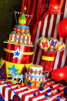 Circus Birthday Party Themed Boys' Party Ideas