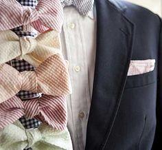 Seersucker Bow Ties. So Southern. So Cool.  http://www.bourbonandboots.com/store/products/seersucker-bow-ties/