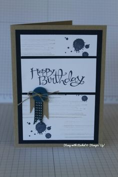 Stampin up gorgeous grunge male masculine birthday card