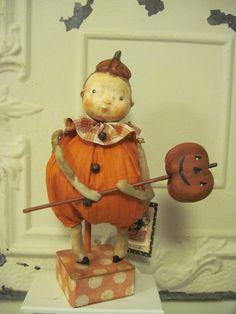 Boy Pumpkin Doll by Cheryl Foster of Patty Cake Primitives.