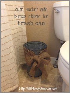 half baths, basement bathroom, guest bedrooms, ribbon, scrapbooking rooms, bucket, burlap bows, powder rooms, guest bathrooms