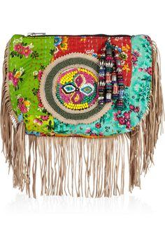 ANTIK BATIK  Hida embellished cotton clutch