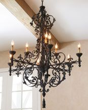 love the black wrought iron