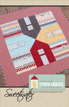 Townhouse Table Mat Pattern. $8.00, via Etsy.