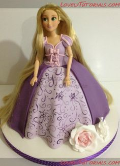 "МК лепка ""Принцесса Рапунцель"" -Gumpaste (fondant, polymer clay) Princess Rapunzel making tutorials - Мастер-классы по украшению тортов Cake Decorating Tutorials (How To's) Tortas Paso a Paso"