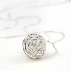 My design inspiration: Nest Necklace Silver on Fab.