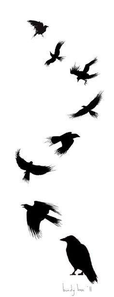 Raven Tattoo design by ~nam-o on deviantART
