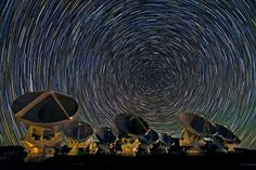 Photographer Babak Tafreshi took this photo of star trails on the Chajnantor Plateau, at an altitude of 5000 metres in the Chilean Andes. Th...