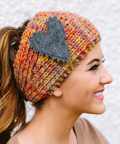Gray Heart Head Wrap