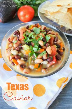 Simple and delicious Texas Caviar - www.classyclutter.net