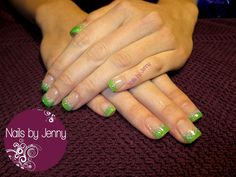 Gel Backfill with Glitter Smile Line  --  Nails by Jenny in St. George, Utah