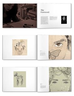 book design & layout by Eiman Basirati, via Behance
