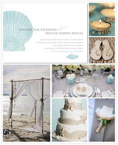 Destination beach wedding inspiration board