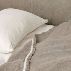 "white nest - fog linen - towelket 57 x 83"" home products, linen blanket, cabins, fog linen, linens, blankets, textil, homes, bedroom"