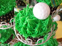 Our golf cupcakes