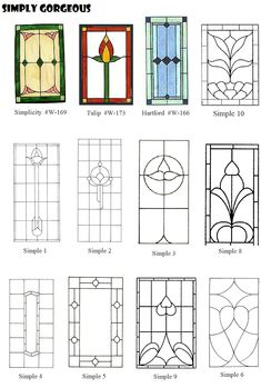 Stained glass patterns on pinterest felt dogs applique for Window design template
