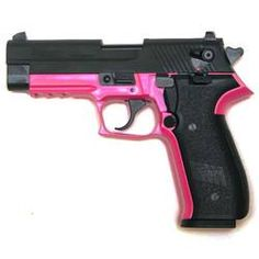 "SIG Sauer Mosquito Semi-Automatic Rimfire Handgun .22 Long Rifle 3.9"" Barrel 10 Rounds Pink Polymer Frame Blued Slide This would fit Kenzie perfectly."