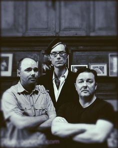 Karl Pilkington, Stephen Merchant, and Ricky Gervais