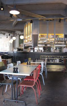 Could replicate elements of this for home kitchen/dining - USINE eindhoven