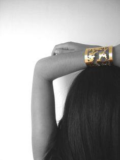 """shadows"" brass bracelet, jewellery by Maria Solorzano. on sale"