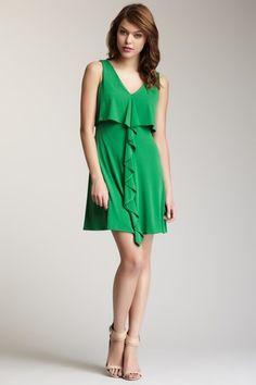 Jessica Simpson Popover Ruffle Dress