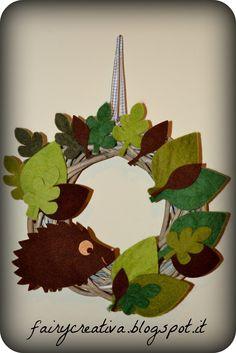 Fairy Creativa: Ghirlanda autunnale di feltro