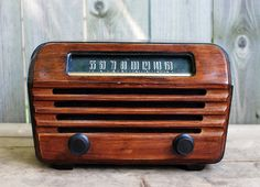 Antique RCA Victor Radio with bluetooth by daffdesign on Etsy, $325.00