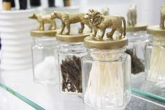 DIY GOLD MINI ANIMAL LID STORAGE JARS