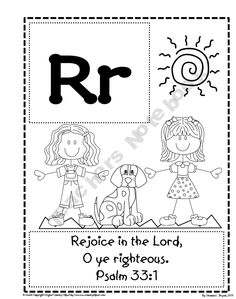 Bible verse abc's coloring pages