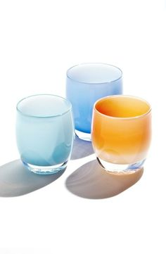 Such a sweet gift for Mom: Glassybaby blown glass votive holders.