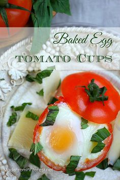 poached egg in tomato cup