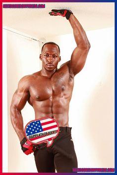 Happy 4th of July from http://nextdoorebonydudes.tumblr.com #sexyblackmen #bigbulge #blackbulge #4thofjuly