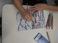 Miss Young's Art Room: 3D Line Design with 5th Grade